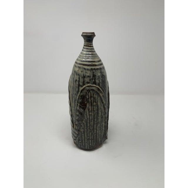 Mid-Century Modern Mid 20th Century Textured Ceramic Vase For Sale - Image 3 of 10