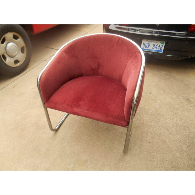 Mid-Century Modern Mid-Century Thonet Cantilever Barrel Chair For Sale - Image 3 of 8