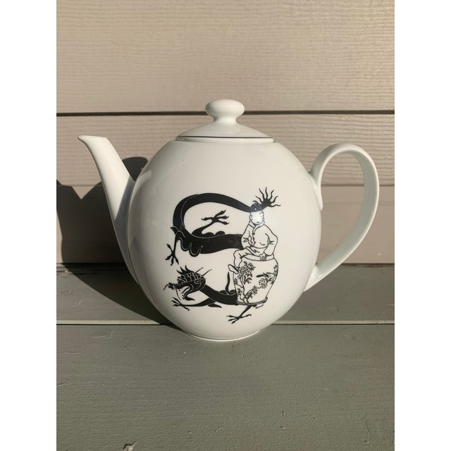 Off-white Rare Tintin Large Teapot by Axis-Paris For Sale - Image 8 of 8