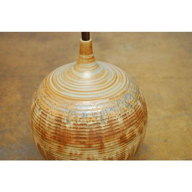 Mid-Century Drip Glaze Table Lamp - Image 3 of 5