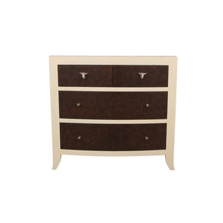 1980s Mid-Century Modern Mission Avenue Studio Bernhardt Faux Gator and Cowhide Chest of Drawers For Sale