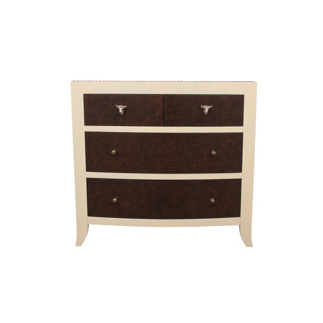 MCM Bernhardt Faux Gator and Cowhide Chest of Drawers For Sale