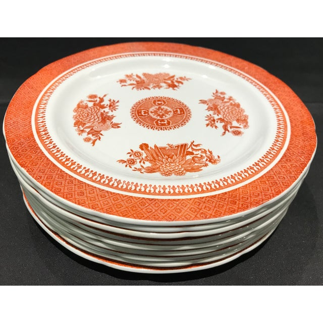 1950s Coral Copeland Spode Fitzhugh Plates 3 Piece Service for 8 - Set of 26 For Sale In Detroit - Image 6 of 12