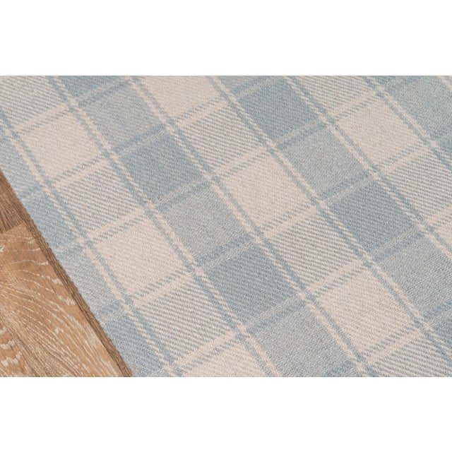 Country Erin Gates by Momeni Marlborough Charles Light Blue Hand Woven Wool Area Rug - 8' X 10' For Sale - Image 3 of 6