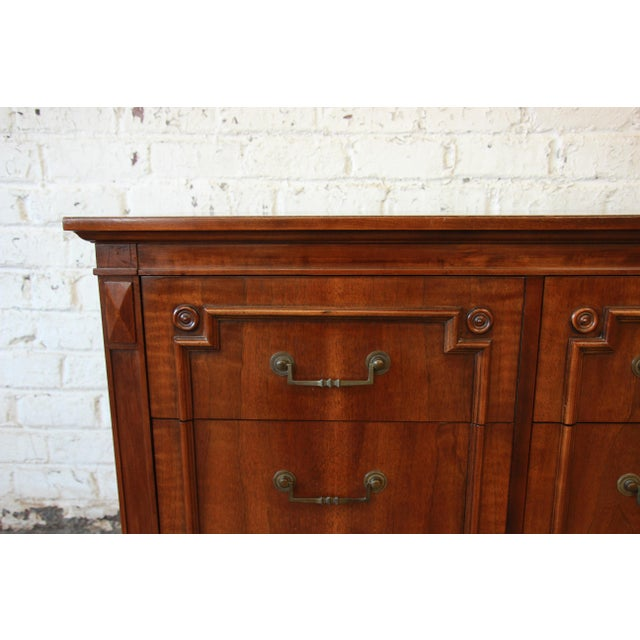 John Widdicomb Vintage Walnut 9-Drawer Dresser - Image 7 of 9