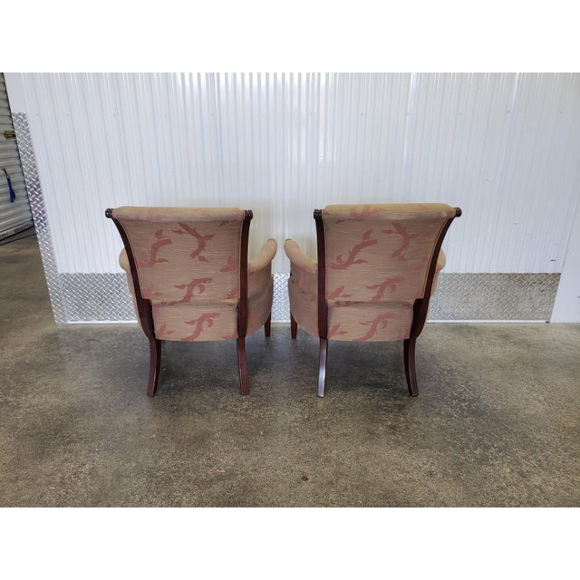 Early 21st Century Chic Barbara Barry Lounge Chairs for Baker Furniture - a Pair For Sale - Image 5 of 8