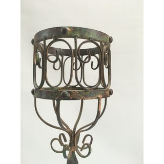 Tall Vintage French Scrolled Candle Holder Preview