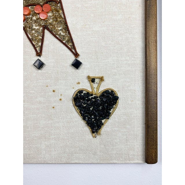 1970s Gravel Art Panels King + Queen, Circa 1970s - a Pair For Sale - Image 4 of 11