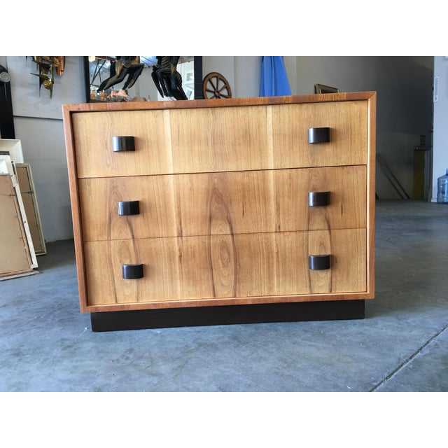 Art Deco George Nelson Inspired Walnut Lowboy Dressers - a Pair For Sale - Image 3 of 10