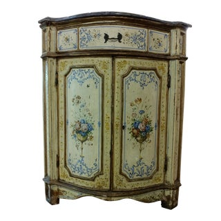 18th Century Venetian Marble Top Corner Cabinet For Sale