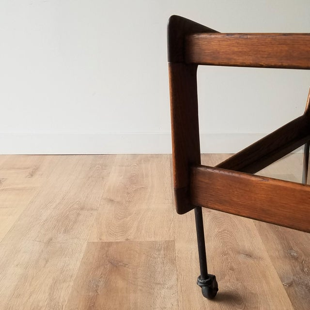 Brown Mid 20th Century Italian Mid-Century Modern Bar Cart For Sale - Image 8 of 13