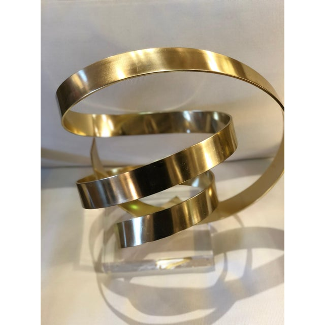 1970s Abstract Gilt Aluminum Sculpture by Dan Murphy For Sale - Image 5 of 7