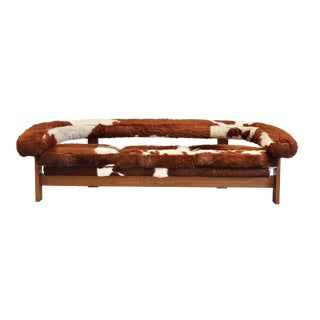 Brazilian Cowhide Gondola Sofa by Jules Heumann For Sale