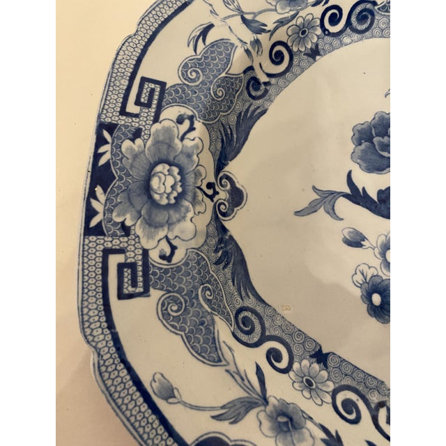 Early 19th Century Antique Mason's Staffordshire Blue and White Platter For Sale - Image 5 of 9