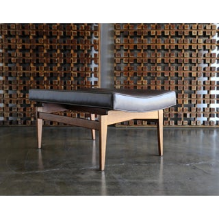 1960 Jens Risom Walnut and Leather Bench Preview