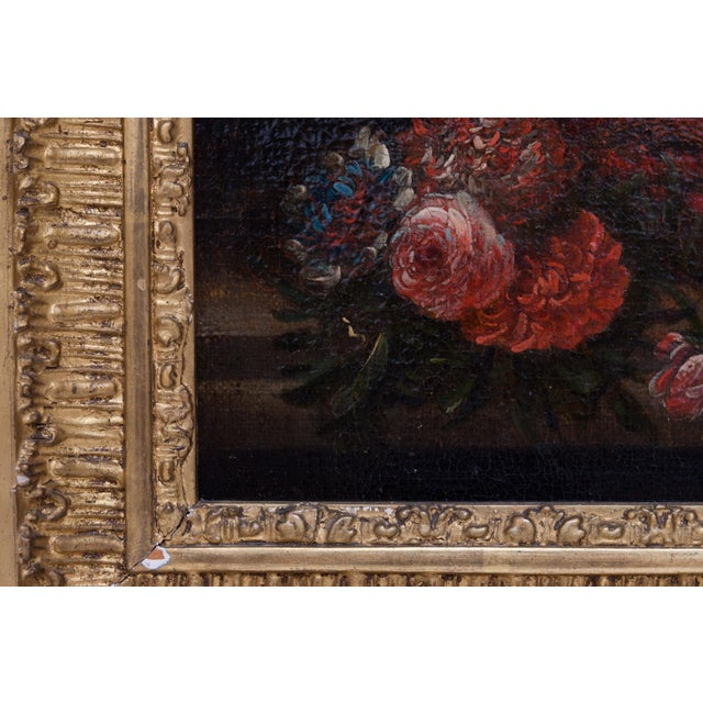 19th Century Floral Still Life Oil Painting in Gold Frame For Sale In Nashville - Image 6 of 9