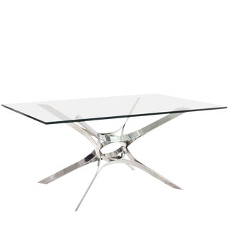 Sculptural Chrome Cocktail Table by Roger Sprunger for Dunbar