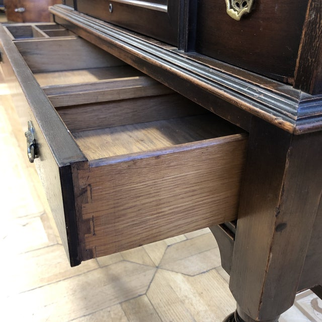 Antique Wood Writing Table + Vanity For Sale - Image 11 of 13