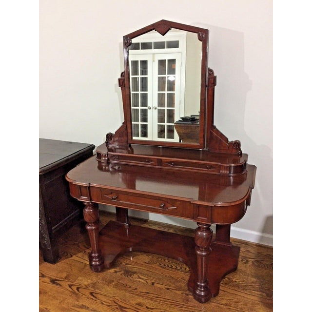 19th Century Victorian Mahogany Duchess Dressing Table For Sale - Image 12 of 12