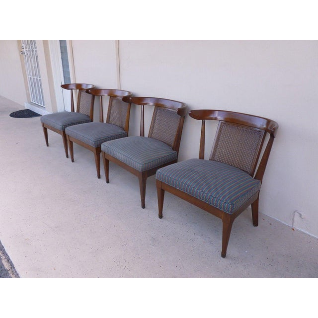 Mid-Century Modern 1950's Vintage Klismos Style Slipper Chairs- Set of 4 For Sale - Image 3 of 7