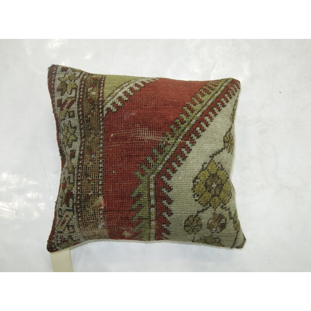 Contemporary Vintage Turkish Rug Pillow For Sale - Image 3 of 3