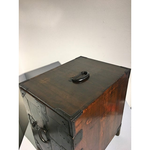 Japanese Meiji Period Ship Chest, Fune Tansu, dated 1883 For Sale - Image 9 of 11