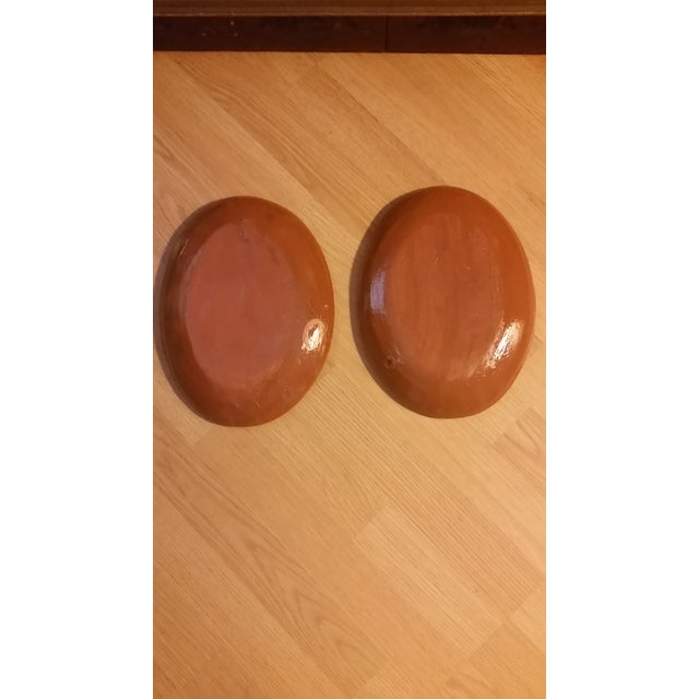 Mexican Tlaquepaque Platters - Set of 2 For Sale - Image 4 of 6
