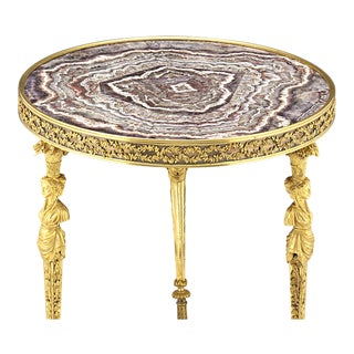 Louis XVI-Style Amethyst Side Table For Sale