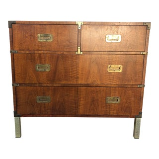 Henredon Campaign Style Bachelor's Chest For Sale