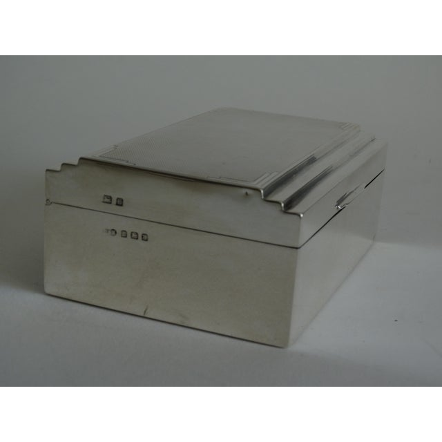 Metal Art Deco Sterling Silver Table Box For Sale - Image 7 of 10