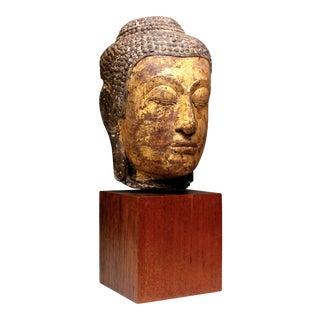 Thai Sandstone Buddha Head, Ayutthaya Period For Sale