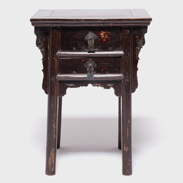 19th Century Chinese Shanxi Tall Petite Cabinets - a Pair For Sale - Image 10 of 13