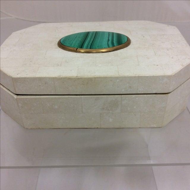 Maitland Smith Tessellated Marble & Malachite Box - Image 7 of 11