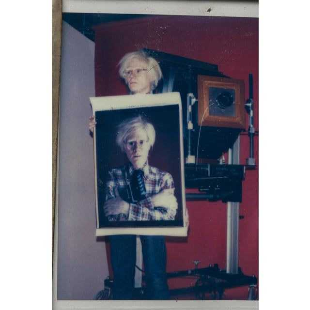 Polaroid of Andy Warhol Holding Polaroid by Bill Ray Signed Andy Warhol For Sale - Image 4 of 11