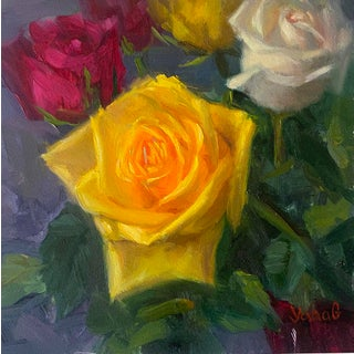 Yellow Rose Painting For Sale