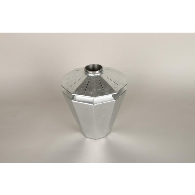 Topher Gent Contemporary Geometric Steel Vase by Topher Gent For Sale - Image 4 of 7