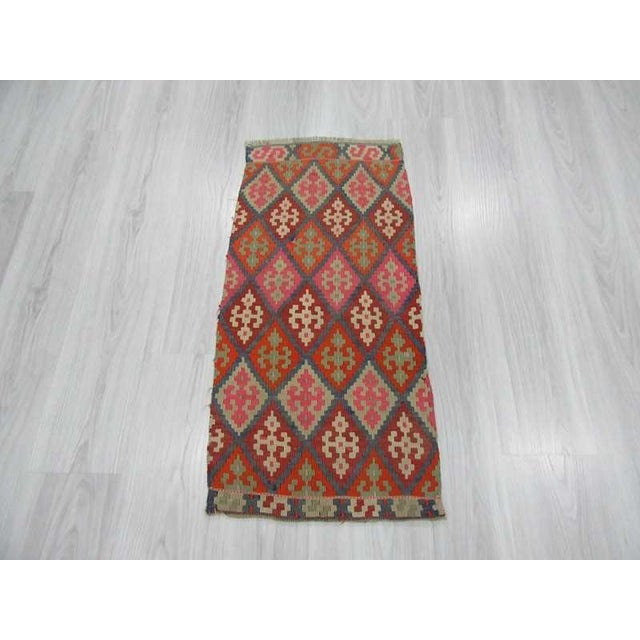 Islamic Vintage Mini Kilim Rug - 1′7″ × 3′3″ For Sale - Image 3 of 4