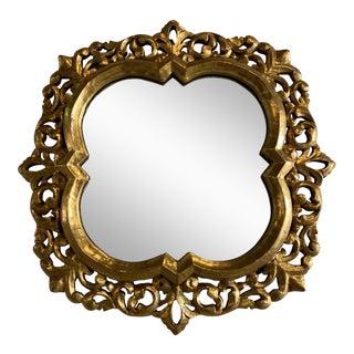 Vintage Italian Quatrefoil Mirror For Sale