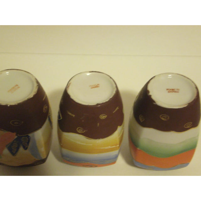 Vintage Japanese Satsuma Vases - Set of 3 - Image 9 of 10