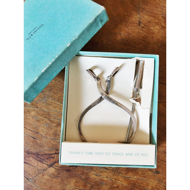 Metal 1950s Tiffany & Co Sterling Silver Ice Tongs and Pick - a Pair For Sale - Image 7 of 11