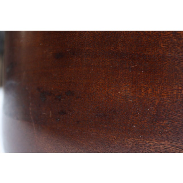 Wood Mid Century Modern Turned Teak Bowl For Sale - Image 7 of 8