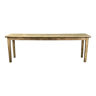 Rustic Country French Provincial Pine Sofa Table For Sale