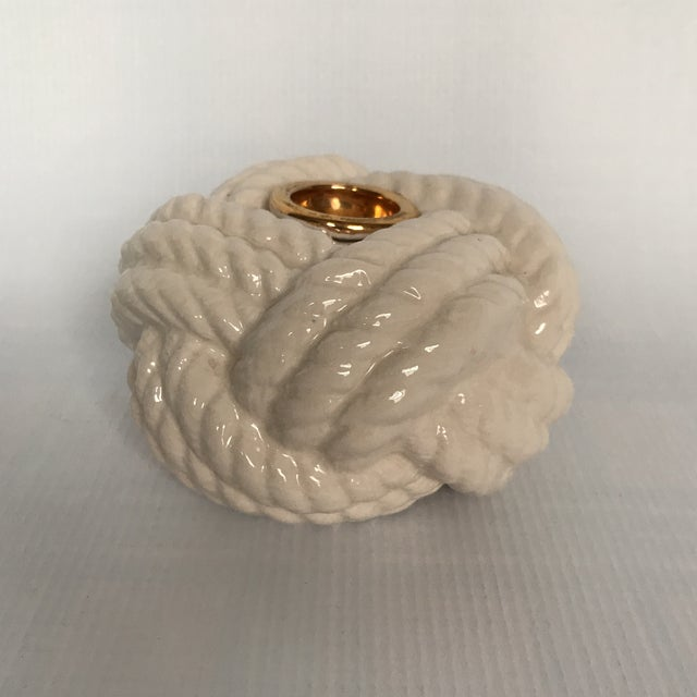 Nautical Porcelain Knot Candle Holder - Image 7 of 7