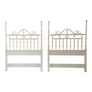 Kensington by Drexel Twin Faux Bamboo Headboards - a Pair