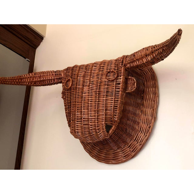 Mid 20th Century 20th Century Wicker Bull Head For Sale - Image 5 of 6