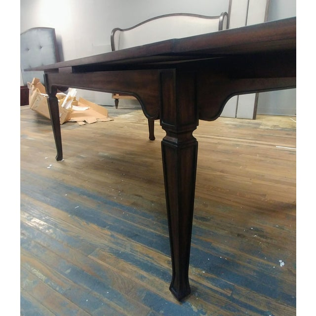 Henredon Furniture Acquisitions European Refectory Walnut Dining Table For Sale In Charlotte - Image 6 of 11