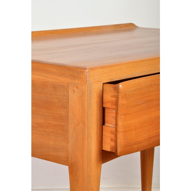 Tan Pair of Chalet Chic Side Tables, Switzerland 1960s For Sale - Image 8 of 12