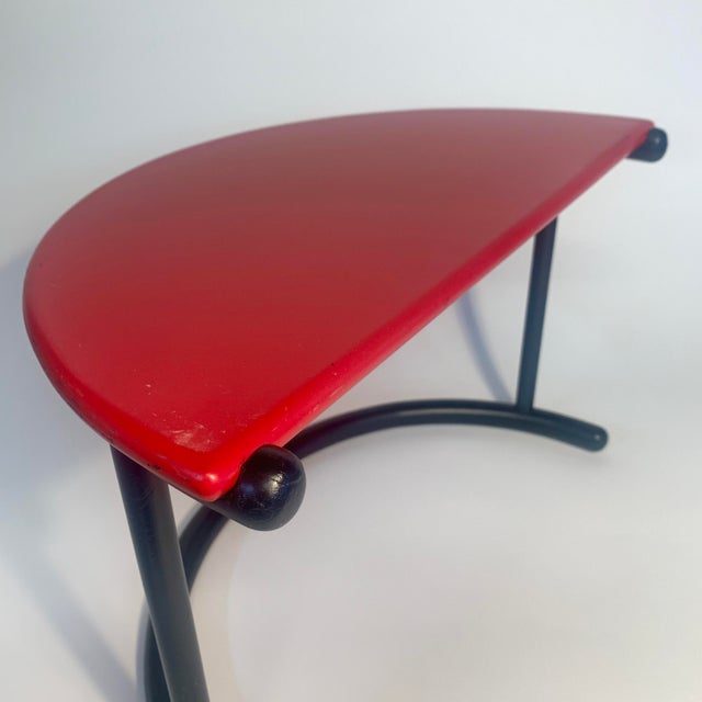 Gianfranco Frattini Demilune Side Table For Sale - Image 11 of 13