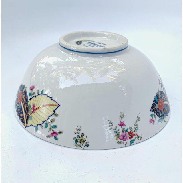 Vintage Tobacco Leaf Fine China Medium Salads Serving Bowl For Sale - Image 11 of 13
