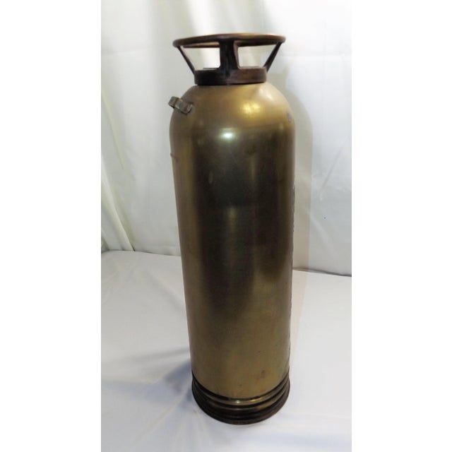 Vintage Brass Industrial Fire Extinguisher - Image 4 of 8